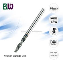 Aerospace Tungsten Carbide Drill Bits For CNC Milling Machine