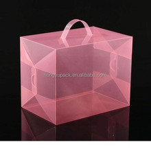 high quality customizable printed pp plastic transparent gift box