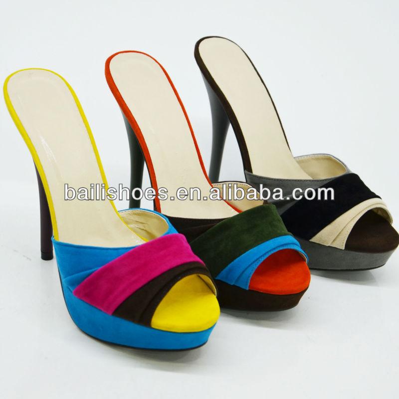 Chica de moda 2013 de los zapatos de tacón alto para mujeres fantásticas de baile de la señora de las sandalias