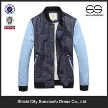 Men de Plain chaqueta Denim patchwork, Denim tinte, chaquetas para 2015