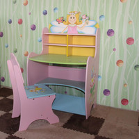 School children Wooden study table with chair Kids furniture