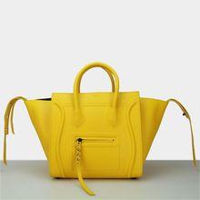 2014 Hot sell women smiling face handbags.europe leather handbag new