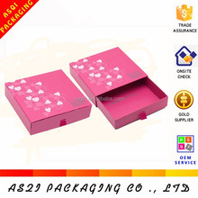 sweet chocolate packing pink color printed hot stamping drawer cute paper box