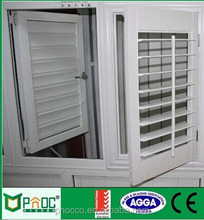 PNOC Factory Shanghai Australian Standard Aluminum Window With Louver Made In China