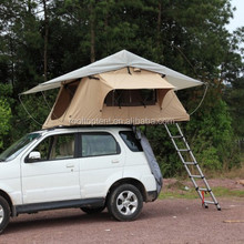 Double Layer Canvas Foldable Auto camping car roof top tent