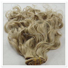 Wholesale price brazilian fumi blonde curly braids unprocessed natural water weave human hair extensions weft for black woman