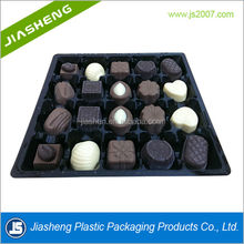 Disposable customized plastic chocolate tray with compartment