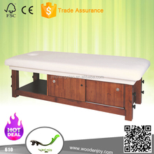 2015 excellent quality model 610 spa furniture wooden massage table