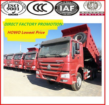 Factory Promotion!!! SINOTRUK HOWO 10 wheel dump truck load of sand