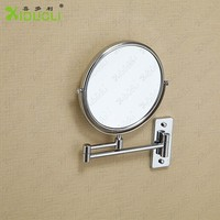 Magnifying wall mirror brass wall mounted makeup mirror