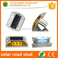 IP68 reflective flashing light road marking studs solar led panel