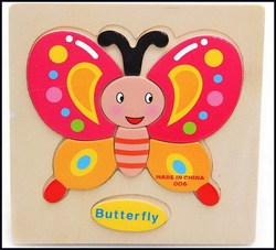 Best quality newly design wooden frame educational toy 3d puzzle