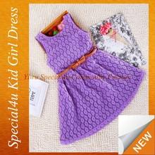 2016 new beauty kids wear high quality baby girl winter dresses SPXC-028