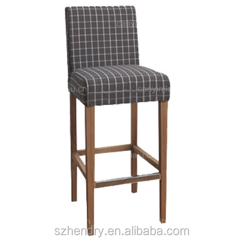 High Back Bar Stool Chair Wooden Bar Chair With Footrest Buy Wooden High Ba