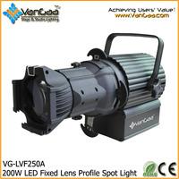 LED Ellipsoidal Spot Light 200W LED Fixed Lens Profile Spot Light