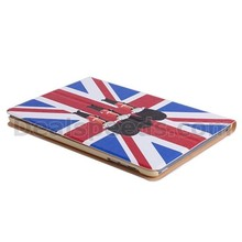 UK Flag and Soldiers Leather Cover for iPad Mini 1/2/3, for iPad Mini Accessory