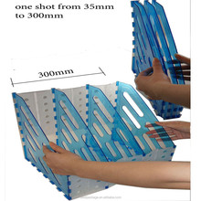 foldable divider A4 desk top archive acrylic magazine plastic file organizer