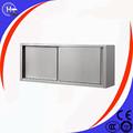 restaurante aparato blanco de plata de acero inoxidable de metal del gabinete con puerta corredera