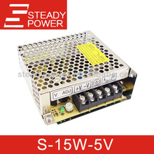 S-15W CE 15w 5v 12v 24v ac dc regulated power supply