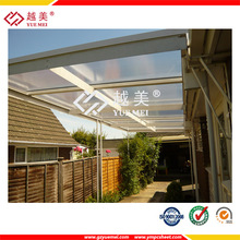 colored lexan pc solid sheet skylight roofs for patio
