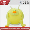 Hot sale funny duck plush cover with hopper ball toys for kids