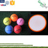 golf high quality producer logo custom print balls colored golf ball