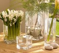 venta al por mayor florero de vidrio transparente