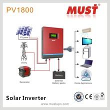 Alibaba Trade Assurance 5kva pure sine wave inverter high frequency inverter/12V inverter/PV1800 1KVA-5KVA Solar Inverter