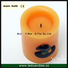 Rechargeable Halloween Decor Witch Hat Candles