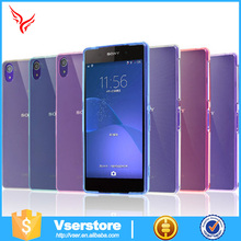0.3mm thickness soft silicone tpu transparent clear crystal cell phone cases for Sony Xperia Z2 mini