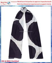 Black and white dots Chinese silk scarf ,ladies sex scarf ,custom silk scarf printing