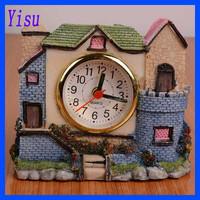 High Quality Old house Villa resin alarm clock table clock