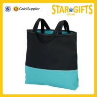2015 Alibaba China fashion design recycled cloth joining together polyester tote bag