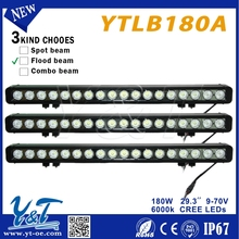 Y&T Excellent led light bar 10 wat led flood light 29.3inch headlight 180w led moto auto lamp