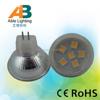 10-30VDC & 10-18VAC Glass with cover 100lm 1.2w led lamp mr16