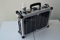 300w portable solar power system with lithium battery / inverter