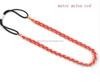 European and American fashion chain metal flannelette hair band fashion headband braid hair bands