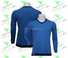 2015/2016 sky blue goalkeeper long sleeve soccer jersey, accept paypal , thailand quality football jersey