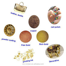 coating metallic pigment powder gold