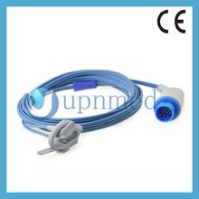 Medical devices 10 pins infant wrap spo2 sensor with pulse oximeter,3m