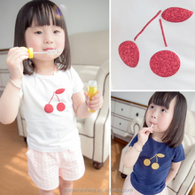 MS64048C cherry prints baby girls t-shirt manufacturers