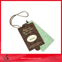 Sinicline printed paper swing ticket for garment