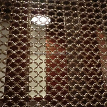 stainless steel polished ring curtain mesh