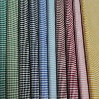 2015 hot sale 100% handmade woven yarn dyed cotton plaid soft cotton fabric for pillow home textile garment
