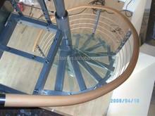 Home Modern Glass Circular Stairs