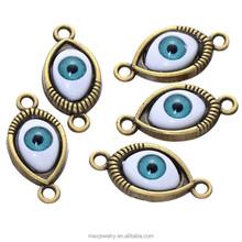 Wholesale Turkey Evil Eye Metal Charms for Bracelet Making