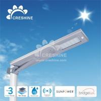 Modern Design Auto PIR Sensor integrated solar LED street Lamp all in one