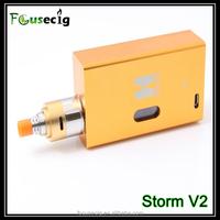 Big vapor factory price AFC dual coils Storm V2 rda atomizer bbtank e cig