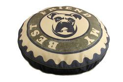 Custom printed round or rectangle dog mat
