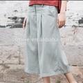 El esquema original de la marca 3/4 larga de algodón mujeres plus palazzo pantalones tamaño